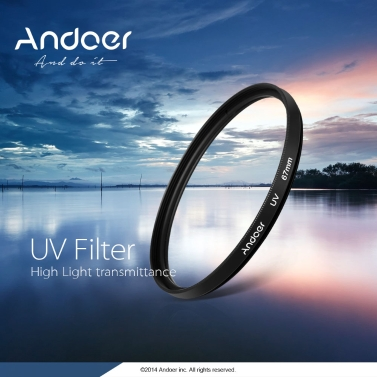Andoer 77mm UV Ultra-Violet Filter Lens Protector for Canon Nikon DSLR Camera