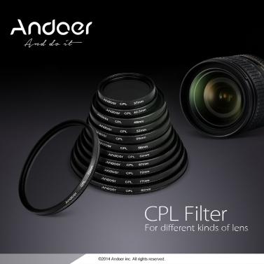 Andoer 58mm Digital Slim CPL Circular Polarizer Polarizing Glass Filter for Canon Nikon Sony DSLR Camera Lens