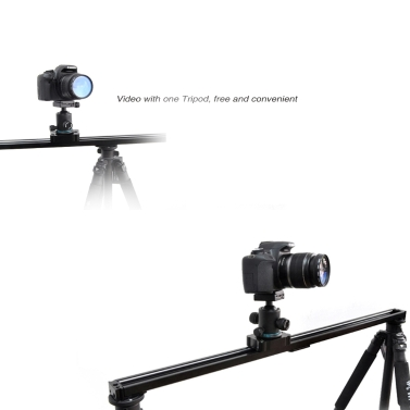 Commlite 80cm / 31'' Camera Video Track Slider Stabilizer System with Ball-Bearing for DSLR Camcorders
