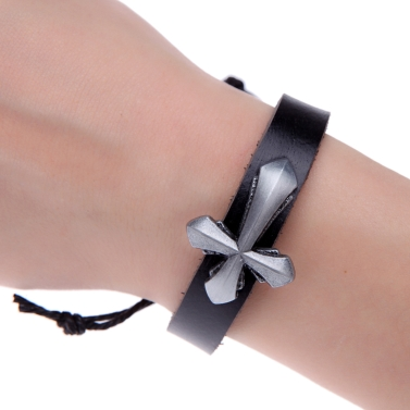 Mode-Legierung Frauen Männer Leder-Armband Armreif