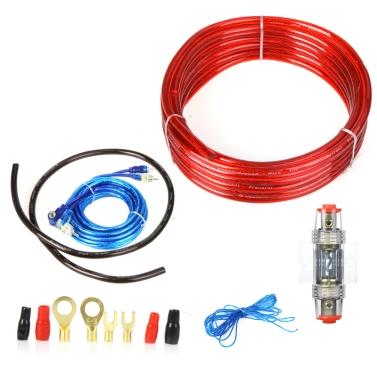 1500W Car Audio Verkabelung Verstärker Subwoofer Installation Kit 8GA Stromkabel 60 Ampere Sicherungshalter