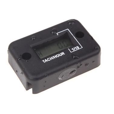 Waterproof Digital Tachometer Tach Hour Meter Gauge LCD for 4 Stroke Gas  Engine Motorcycle ATV Snowmobile Boat Black