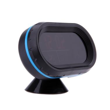 Coche automático Digital termómetro voltímetro Voltaje metro Noctilucous reloj congelar alerta + pilas