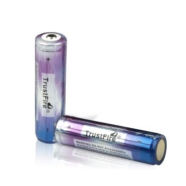 TrustFire 2PCS 18650 2000mAh 3.7V wiederaufladbare Lithium-Batterie mit PCB geschützten Board