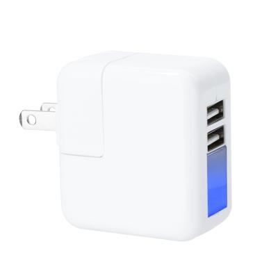 Mini 2 Ports USB Universal Power Adapter Wand- Reise-Ladegeraet für iPhone iPad Smart Phone Tablet 5V 2.1A US-Stecker