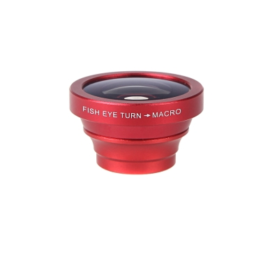 180 Degree Fisheye Macro Lens Magnetic Mount for iPhone 5S 5 Galaxy S4 S3 Note 3 HTC 2 in 1 Red