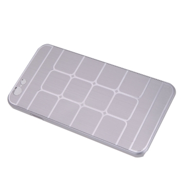 Gittrige Grid schützende Brushed Aluminium hart zurück Case Hülle für Apple iPhone 6 silber