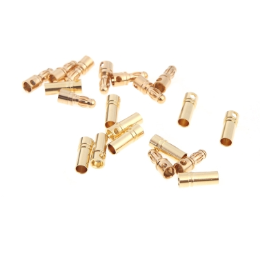 10 Pairs 3.5mm Copper Bullet Banana Plug Connectors Male + Female for RC Motor ESC Battery Part