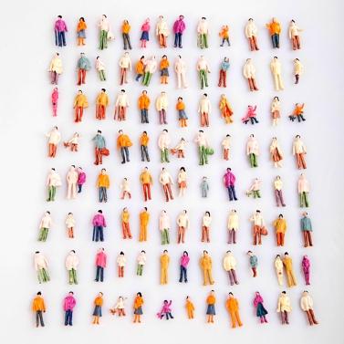 Painted Model People (1:100)
