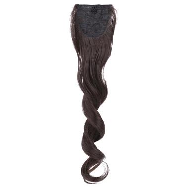 Pferdeschwanz Haarteile lang wellig Hochtemperatur-Wire Bundles Mawei Stil Riemen