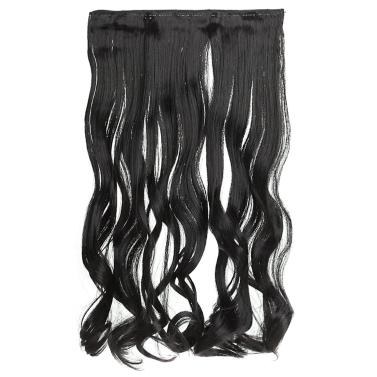 6Clips lange große Welle Haar verdicken beliebte Mode-Göttin gelockt Haarverlängerung mit Charme