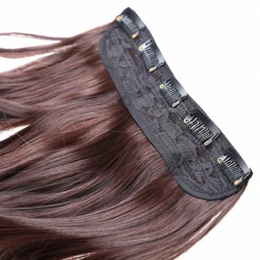5Clips in über wellige locken synthetische Haarteile Slice Hair Extension Pferdeschwanz Hochtemperatur Fasern