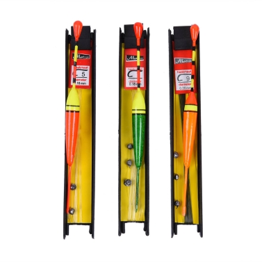 3pcs 12.5cm 10g Vertikal Boje Angelzubehör Holz Angeln Wasser Tackle 3 Farben