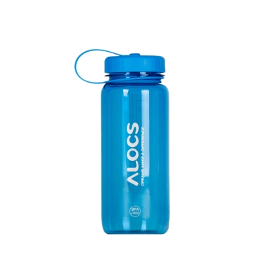 650ml ALCOS WS-B04 Outdoor Portable Translucent BPA Free Tritan Sports Water Bottle with Filter Cover Cycling Hiking Camping Travel