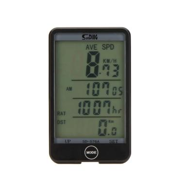 Kabelgebundene Bike Fahrrad Radfahren Computer Kilometerzähler Tachometer Touch Button LCD-Hintergrundbeleuchtung Hintergrundbeleuchtung wasserdicht Multifunktion