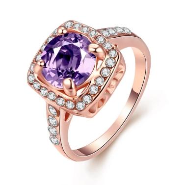 R056-8 Großhandel hochwertige Nickle kostenlose antiallergische neue Mode Schmuck K vergoldete Ring