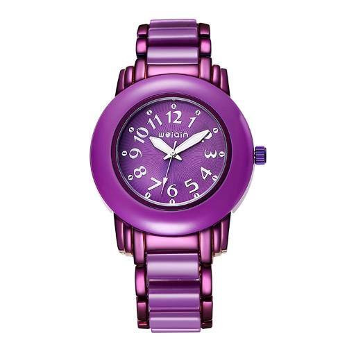 WEIQIN Women Dress Watches Big Round Dial Fashion Casual Ladies Watch Analog Quartz Wristwatches