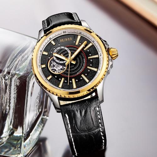 BUREI Luxury Brand Auto Self-wind Mechanical Watch for Men