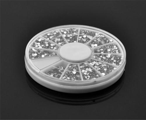 3600 Nail Art 1.5mm frei rund Strass s Glitzer-Tipp Gems Rad