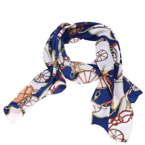 ashion Women Wheel Pattern Chiffon Wraps Shawl Silk Scarf