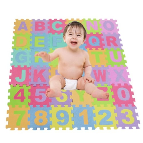 Alphabet & Numbers Soft Foam Play Puzzle Mats Children Kids Play Mat