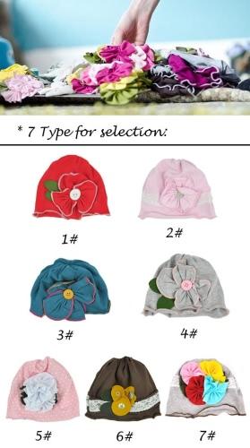 Sombrero de la flor linda de la niña de Nueva niños, niño del algodón del casquillo de Headwear suave HairBand