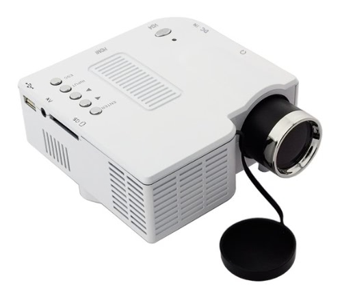 Hot Sell New Portable HD Mini Multimedia LED Projector For Home Theater PC Computer PC TV Game Displayer White Input VGA/AV/USB/SD HD White