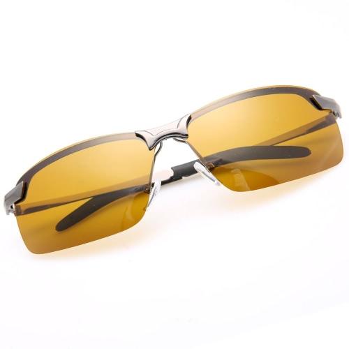 Men \ 's polarisierten Sonnenbrille fährt gelb Objektiv Nachtsicht Driving Gläser Goggles reduzieren Glare