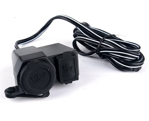 New 2.1A Waterproof Motorcycle USB Cigarette Lighter Power Port Integration Outlet Socket