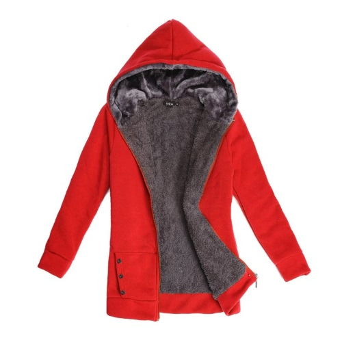Fashion Casual Women's Ladies' Thicken Warmer Hoodie Coat Outerwear Jacket