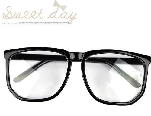 Oversized Tortoise Shell Retro Nerd Geek Preto Limpar Lens Óculos Plain Para Fancy Dress