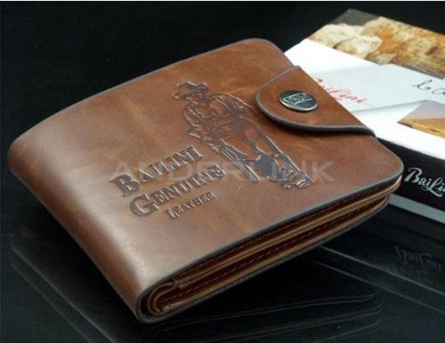 Clásico bolsillos de cuero de crédito de los nuevos hombres Boys' / ID sostenedor de las tarjetas monedero de la cartera