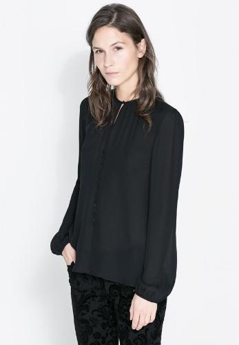 Stylish Lady Women's Career New Fashion Long Sleeve O-neck Sexy Tops Blouse
