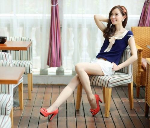 Stylish Lady Women's New Fashion Elegant Short Sleeve Doll Neck Loose Chiffon T-Shirt