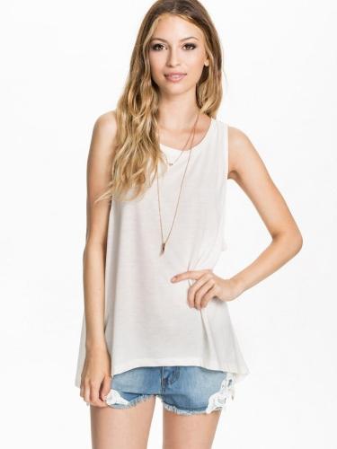 Stylish Lady Women's Casual O-neck Sleeveless Printed Sports Vest T-Shirt Tops Blouse Shirt