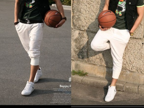 New  's Fashion Loose Sports Rope Pants Dance Jogging Baggy Cropped Trousers