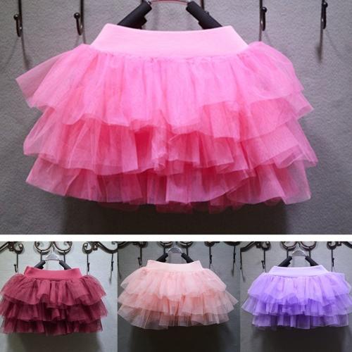 Fashion Baby Girls Mesh Splice Layer Skirt Ball Gown Tutu Mini Skirt