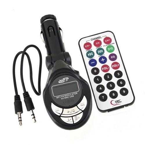 Quantum Car Kit Digital Wireless FM Transmitter MP3 Player+ Remote Control SD/USB/AUX 3.5mm Input