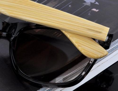 Handgemachte Bambus Beine Eyewear Brillen Rivet Sonnenbrillen Gläser handgefertigt UV 400