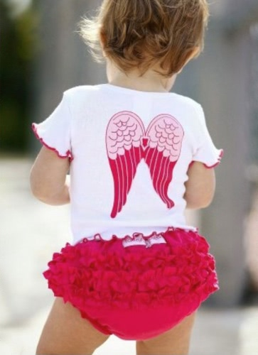 New Baby Toddlers Summer Outfit Girl Angel Wings Top+ Ruffle Pants 6-24 Months