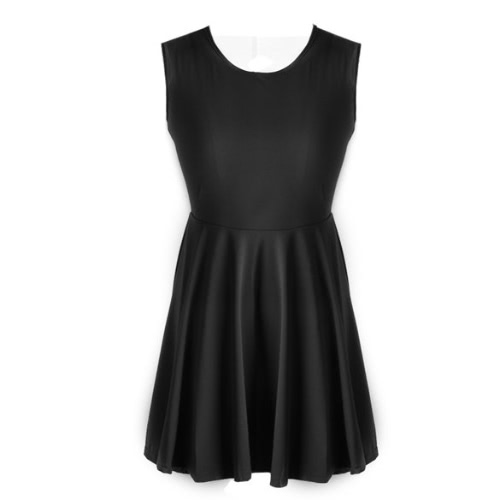 Women Sleeveless Flared Party Ladies Plus Size Skater TOP Dress
