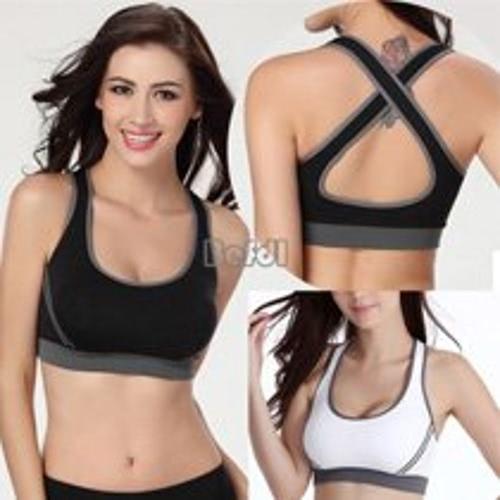 Women Jogging Sports Blockout Bra Vest Gym Wear Fitness Crop-Top Yoga Exercise Tank Tops