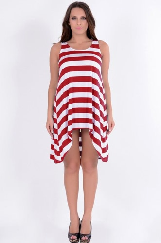 New Girls' Stripe Dress Sleeveless 4 Colors Women's Beach Dress