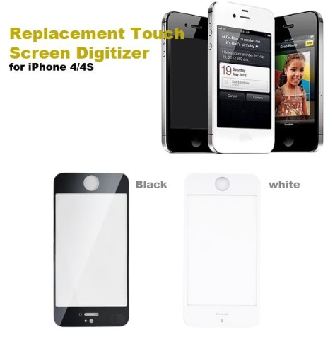 Replacement Touch Screen Digitizer & 7Pcs Remove Tools For iPhone4/4s