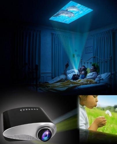 New 60lumens Portable USB SD HD TV VGA HD LED Video LCD 1080P 3D Mini Projector