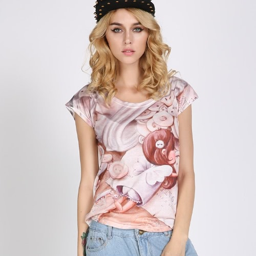 Summer Fashion Vintage Graphic Printed T-Shirt for Women