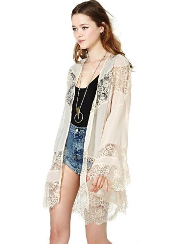 Stylish Women's Long Sleeve Cardigan Chiffon Casual Tops Blouse Shirt