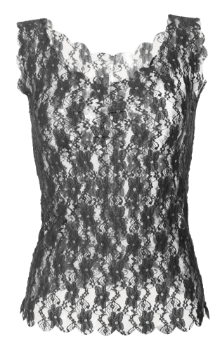 Stylish Lady Women's Fashion Summer Sexy Lace Perspective Tank Tops