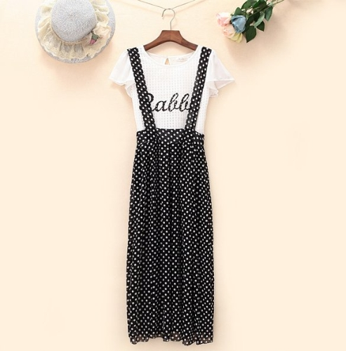 New Stylish Ladies Women Casual Preppy Ruffle Pull-on Gallus Elegant Skirt