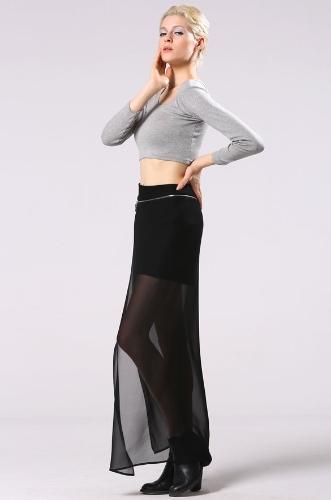 Manera de la señora mujeres con estilo casual falda larga con Encanto